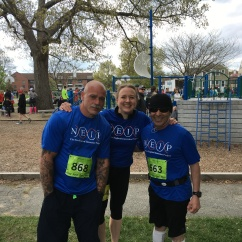 Lisa, Victor & George before the Newburyport River Run