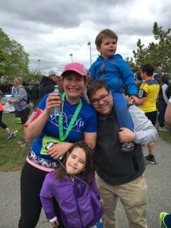 Shira and family at the River Run